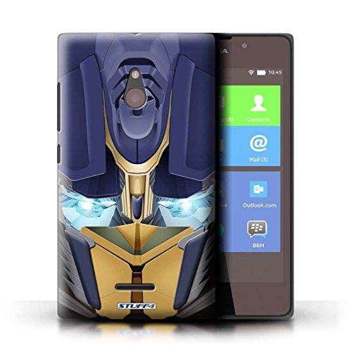 Kobalt® Imprimé Etui / Coque pour Nokia XL / Mega-Bot Jaune conception / Série Robots Opta-Bot Jaune