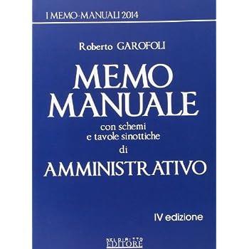 Memo Manuale Con Schemi E Tavole Sinottiche Di Amministrativo