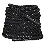 Letsplay FG-Battle Polyester Battle Rope,30, 40, 50 60 ft (Black) (60)