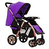 Guo@ Baby Trolley Can Sit and Lie Down Lightweight Folding 0/1-3 Years Old