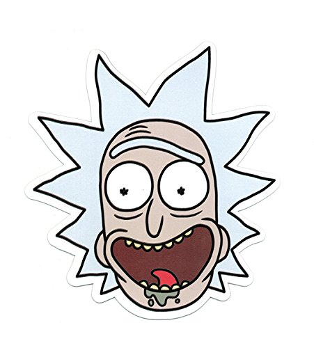 Rick and Morty - Rick Face, Officially Licensed Original Artwork, Premium Quality Car MAGNET