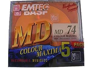 Emtec bASF miniDisc colour maxima 74–5-pack