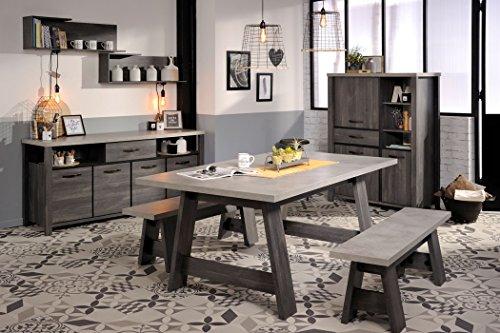Hochwertig Esszimmer Maxim 2 Eiche Grau 7 Teilig Esstisch Sitzbank Sideboard Regal  Tisch Bank Highboard Landhausmöbel