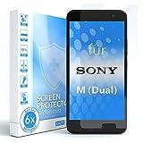 EAZY CASE 6X Bildschirmschutzfolie für Sony Xperia M (Dual), nur 0,05 mm dick I Bildschirmschutz, Schutzfolie, Bildschirmfolie, Transparent/Kristallklar