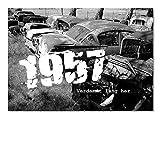 DigitalOase Glückwunschkarte 1957 61. Geburtstag Geburtstagskarte Grußkarte Format DIN A4 A3 Klappkarte PanoramaUmschlag