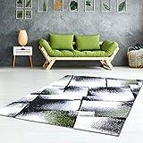 Teppich Flachflor Kurzflor Konturenschnitt Carving Friseé Meliert Modern Grün Grau Wohnzimmer Größe 200/290 cm