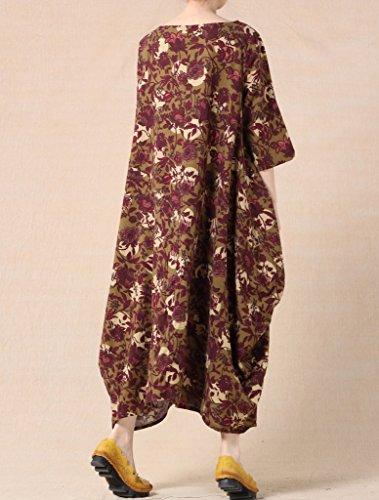 ... Vogstyle Damen Sommer Print Oversized Dress Baggy Kleid Art 4 ziegelrot( EU36-42)