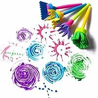 HENGSONG Enfants Creative Flower Stamp Eponge Broyeur DIY Art Outils de Peinture Graffiti Brosse Gouache Kit de Coloration