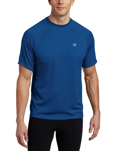Champion Double Dry Core Short Sleeve Tee Mens Large (Stadium Blue) (Short Sleeve Double Dry Tee)