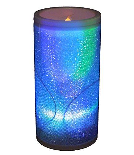 haac-lampe-bougie-led-avec-paillettes-changement-de-couleur-arc-en-ciel-15-cm