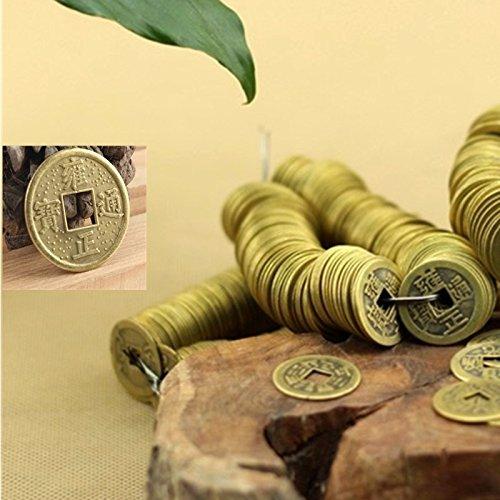 Bluelover 20pcs chino Feng Shui antiguo fortuna riqueza monedas