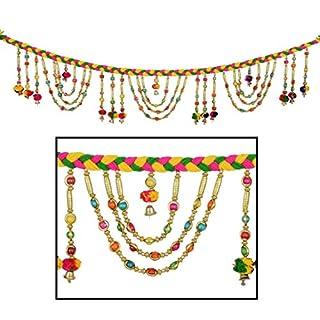 Toran Door Hanging Toran Window Valance Dream Catcher Home Décor interior pooja bandanwaar Diwali gift festival colorful indian handicraft love.TORAN80