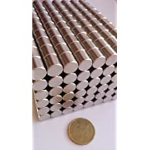 Bastekrace - Imanes cilíndricos para tablón de notas (20 unidades, 10 x 10 mm, neodimio)