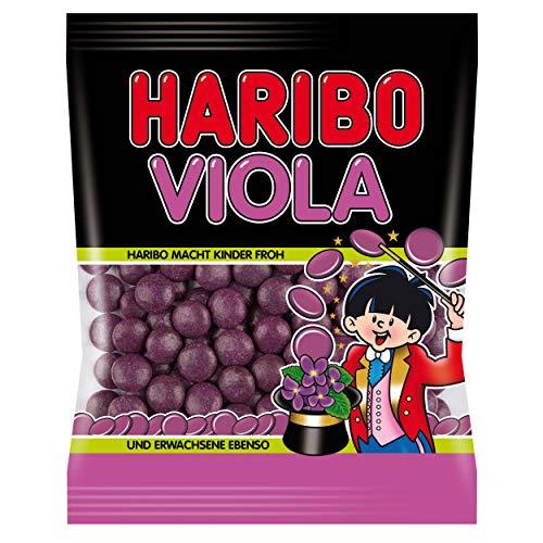 HARIBO Viola, Gummibärchen, Weingummi, Fruchtgummi, Lakritz-Dragees, im Beutel, 125 g