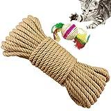 Yangbaga Natural Sisal Seil 6mm Ersatz Alte DIY Zubehör String ideal für den Austausch Katze Baum Griffoir (100m)