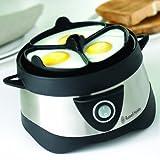 Russell Hobbs Eierkocher, 1 bis 7 gekochte oder 3 gedämpfte Eier (inkl. Dampfgarer-Einsatz), automatische Abschaltung, Signalton, BPA-frei, inkl. Messbecher, Testsieger, Cook@Home 14048-56 - 2