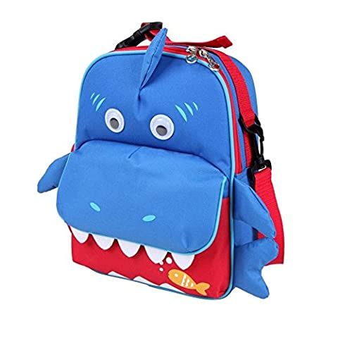 Babyhugs® 3voies pour enfant enfant animal Sac à dos Sac à dos école maternelles Sac Sac à repas–Requin