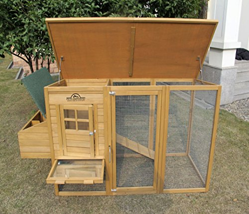 Pets Imperial® Devonshire Large Chicken Coop Hen House Ark Poultry Run Nest Rabbit Hutch Box Suitable For Up To 4 Birds – Integrated Run & Cleaning Tray & Innovative Locking Mechanism - 3