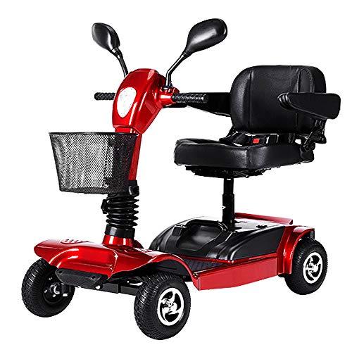 KMCQA Scooter da Viaggio Elettrico Monopattino da Viaggio Compatto per Adulti 4 Ruote