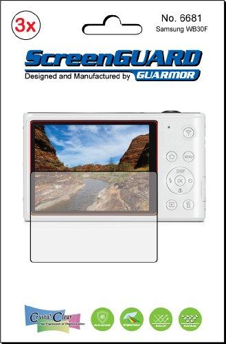 3x Samsung WB30F Wb30Kamera Premium Clear LCD displayschutzfolie Cover Guard Shield Schutzfolie Kit., exakte Passform, kein Schneiden. (3Stücke von GUARMOR) - Carry Case Lcd Guard