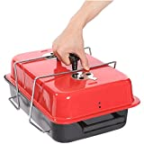 sagrach Charcoal Barbeque Grill Portable Camping BBQ Grill, Portable Briefcase Style Folding Barbecue