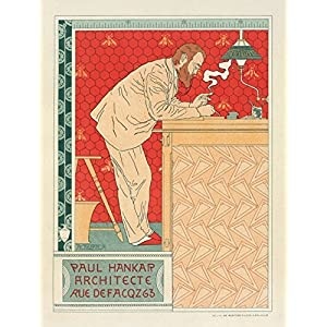 Architektur Art Nouveau Poster (Leinwand)