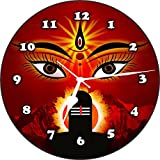 Wall Clock 3D SHIVA1 Wall Clock Watch Vintage Analogue Movement Wall Clock Without Glass For Home / Kitchen / Living Room / Bedroom / Office Designer Wall Clock /Retro Vintage Hand Made 3D Wall Clock / Antique Clock Decorative