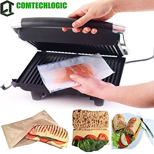 Comtechlogic® CM-4007 Grill Bag Reusable Cooking Liner Non-Stick Sheet Cook With No Oils Or Fats - Frying, Roasting, Baking, Microwave & Grill Machines (3 Bag)