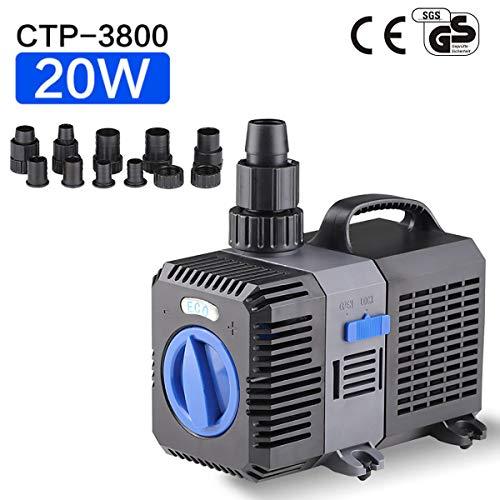 sen sen Super Eco Teichpumpe Filterpumpe 3600L/H 20Watt Energiespar Wasserpumpe Koiteich Bachlaufpumpe SunSun CTP-3800 -