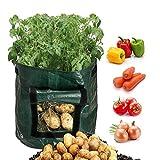 Scoolr patata piantare bag, 2confezione da 7galloni Grow bag aerazione tessuto vasi Garden Planter borse con patta per coltivare ortaggi patata carota cipolla pomodoro, 33cm x 35cm