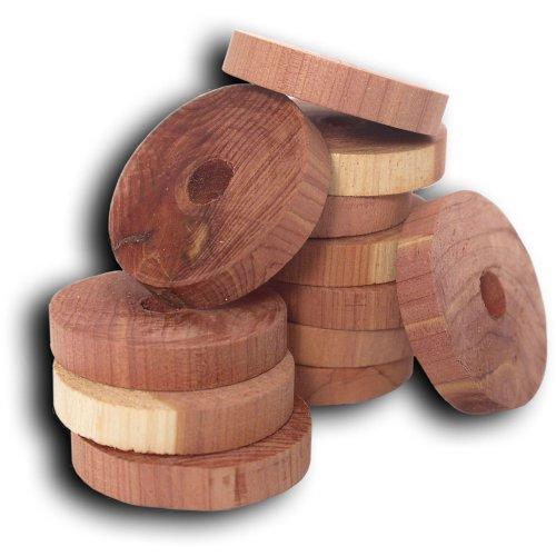 Household Essentials CedarFresh Cedar Hanger Rings, Mehrfarbig, 20-Pack - Cedar 20