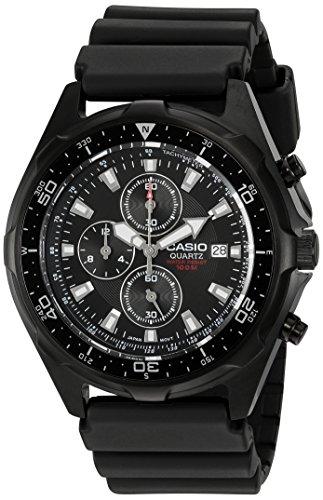 Casio AMW330B-1A - Reloj Bracelet, Masculino, Negro, SR927W, 2 Años, 50 mm