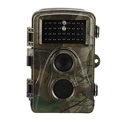 Wilde Kamera,Kasit 720P PIR Sensor Control Scouting Infrarot Wildlife Kamera 34 LEDs für Nachtsicht,Wasserdicht IP56 70 Grad Weitwinkel 1080P Jagd Kamera,Scouting Surveillance Kamera für Wildtiere