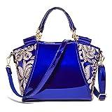 Krstay 2018 Moderner PU Leder Umhängetasche Elegant Damen Tote Stylischer Pailletten Handtasche Mädchen Shopper Handbag Modisch Hell Crossbody