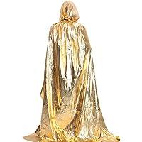 Eizur Adulto Halloween Morte Mantello Incappucciato Cappotto Raso Wicca  Strega Robe Cape Medievale Vampiro Scialle Con c6b2912af939