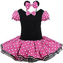 iEFiEL Vestido de Fiesta Princesa Disfraces Tutú Ballet Lunares para Bébes Niñas con Braga Interior con
