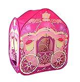 Brandsseller Kinderspielzelt Prinzessinnenkutsche -Spielzelt für drinnen und draußen - Größe: 105 x 105 x 125 cm