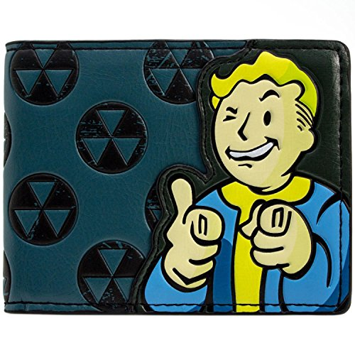 Bethesda Fallout 4 grün-Klee Grün Portemonnaie Geldbörse