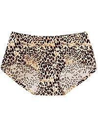 KaloryWee Culotte Femme Stripe Léopard La Mode Hot Sexy Glace Soie Taille  Basse sans Couture Lingerie 1e8aec512e3