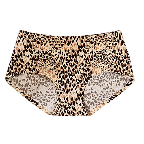 Floweworld Frauen Leopard Print Sexy Seamless Slip Flache Unterhose Dessous Unterwäsche Sexy Nahtlose Leopardenmuster-Höschen Damen Sexy Spitzen Unterwäsche Strings Tanga - Leopard Print Höschen