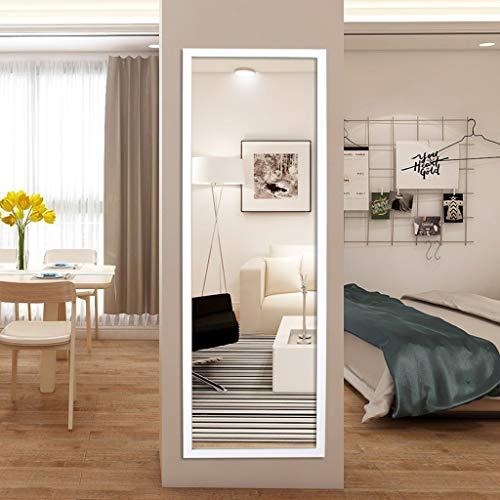 Bodenspiegel LEI ZE JUN UK- HD Stereo-PVC-Rahmen Explosionssicheres Holz Farbe Weiß Ganzkörperspiegel (Farbe : Weiß, größe : 35x150cm)