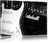 E-Gitarre vor Marshall Verstärker Format: 120x80 auf Leinwand, XXL riesige Bilder fertig gerahmt mit Keilrahmen, Kunstdruck auf Wandbild mit Rahmen, günstiger als Gemälde oder Ölbild, kein Poster oder Plakat