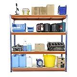 Racking Solutions - Estantería / Estante del garaje/ Sistema de almacenamiento de acero, cargas pesadas, capacidad de carga total 1600kg (4 niveles 1800mm Al x 1800mm An x 450mm Pr) + Envío gratis