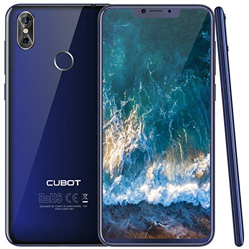 Cubot P20 (2018) Android 8.0 4G-LTE Dual SIM Smartphone ohne Vertrag, Ultra dünn 6.18″(19:9) In-Cell Screen FHD Display (2246×1080px) mit 4000 mAh Akku, 4GB Ram+64GB interner Speicher, Blau