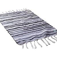Wokee cómodo Fashion área de cocina Rugs Estilo Mediterráneo algodón rectangular forma multi-usage Alfombras Alfombrillas, algodón, A, 50x80cm