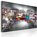 B&D XXL murando - Leinwandbilder Stadt 150x90 cm - Bild für die Selbstmontage - Wandbilder XXL - Kunstdruck - Abstrakt Farbe - wie gemalt f-A-0426-b-a