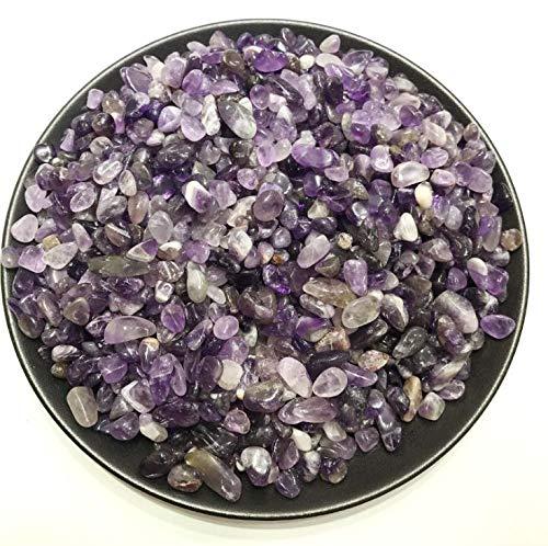 AITELEI 1/2 lb natürlicher Amethyst fiel Stein Steine Topfpflanzen Kies dekorative Aquarium Blume Kristall Topf Magneten Kissen Stein - Perlen Dekorative Kissen