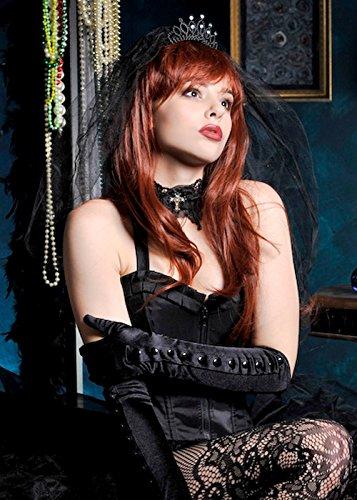 Gothic Braut Fancy Dress Black Veil (Gothic Braut Kostüm Kostüme)