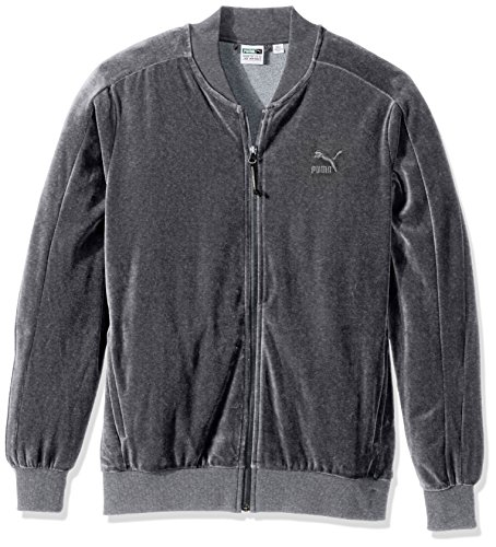 Puma, giacca uomo velour T7 Medium Gray Heather