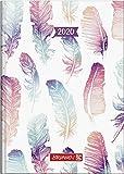 BRUNNEN 107951502 Buchkalender Modell 795 (1 Seite = 1 Tag, 14,5 x 20,6 cm, Grafik-Einband Mohn, Kalendarium 2020)